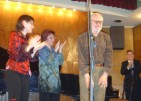 After the performance of Jeu a quatre in Sofia, 2005