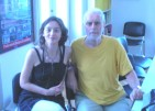 With Aleksandra Vrebalov in Sombor, 2010.